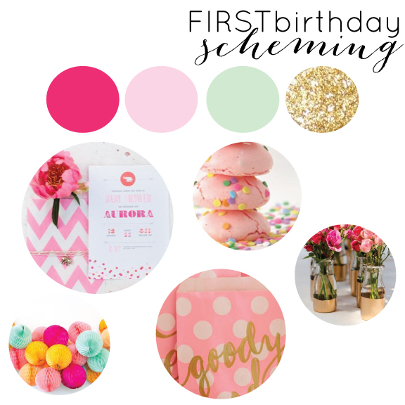 birthday, first birthday, party planning, planning, pink and gold, pink ombre and gold, pink mint and gold