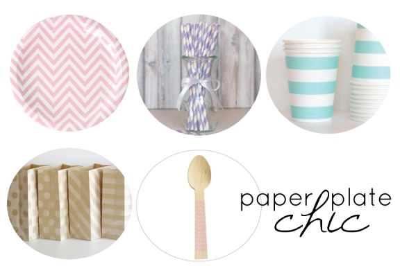 chic paper plates, chic party supplies